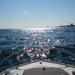 モーターボートをレンタルして、河川探索をした