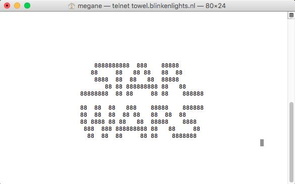MacのターミナルでStarWarsアスキーアートアニメを見る