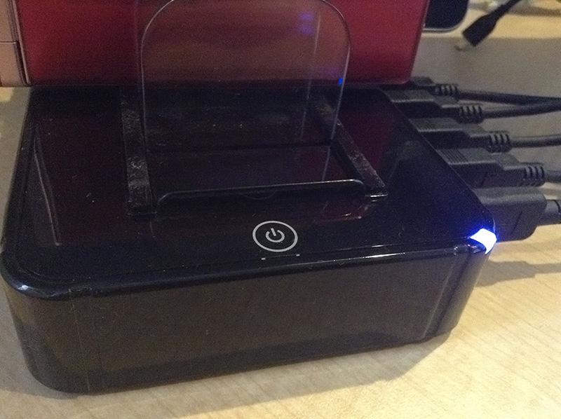 USB充電ステーション 電源ランプ